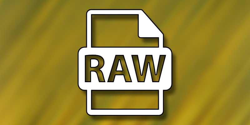 aprire file RAW